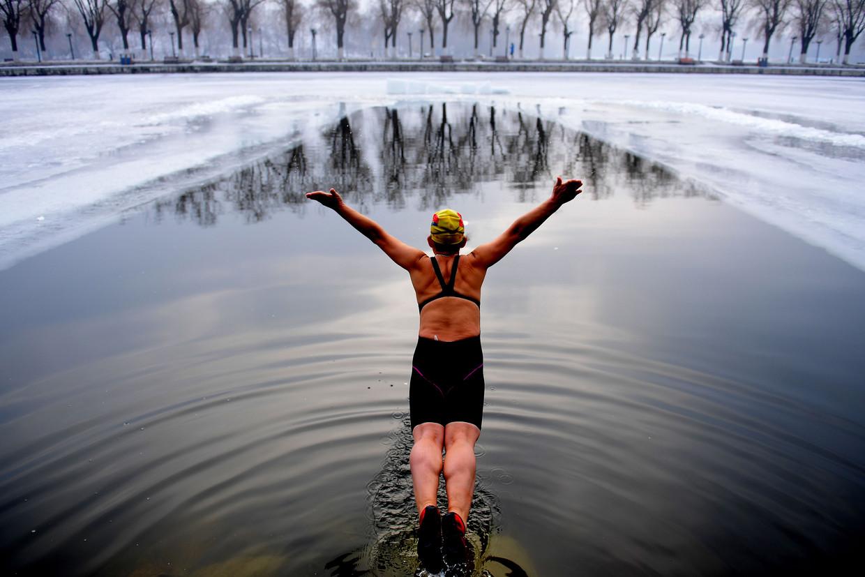 zwemmen in de kou